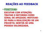 rea es ao feedback