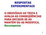 respostas experimentais