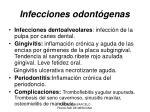 infecciones odont genas