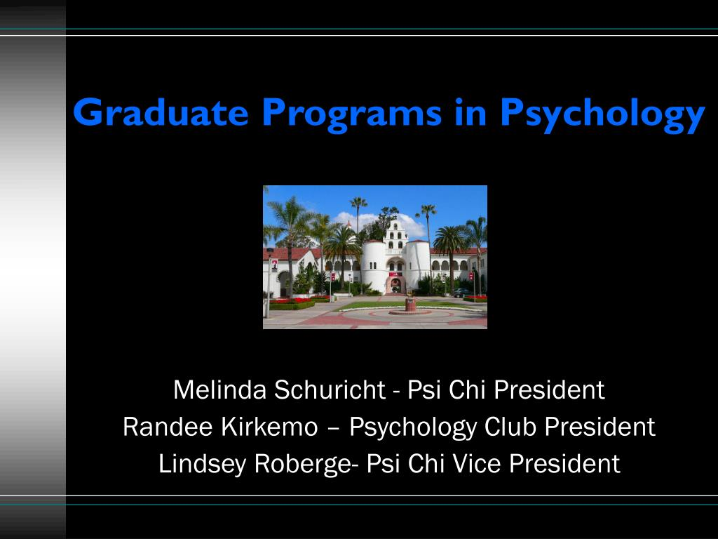graduate programs in psychology l.