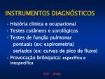 instrumentos diagn sticos