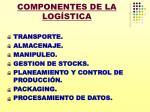 componentes de la log stica