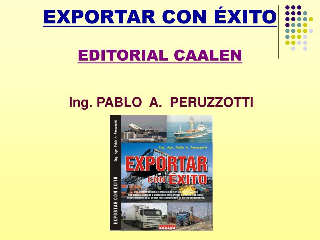 exportar con xito editorial caalen l.
