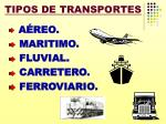 tipos de transportes