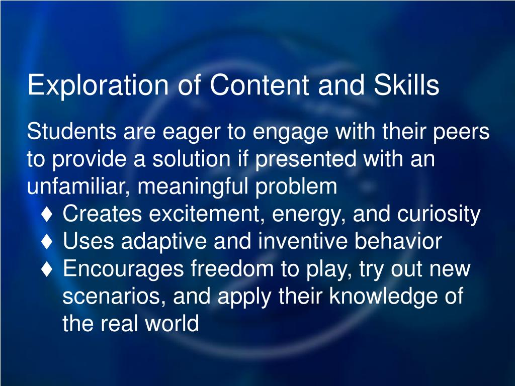 Exploration of Content and Skills