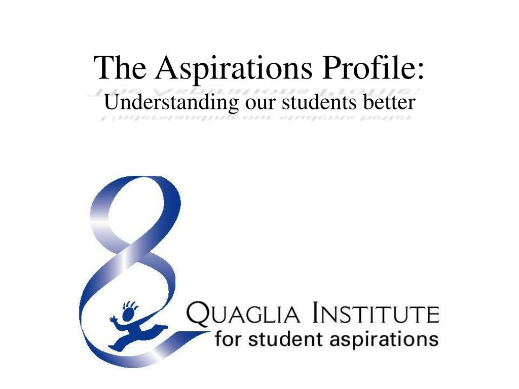 The Aspirations Profile: