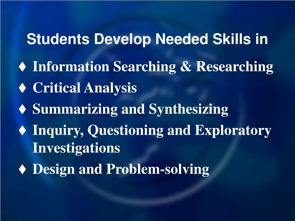 Students Develop Needed Skills in