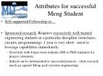 attributes for successful meng student