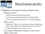 meng program specifics