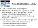 new developments cdio