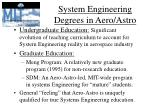 system engineering degrees in aero astro