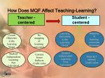 how does mqf affect teaching learning