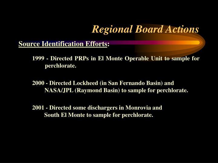 Regional Board Actions
