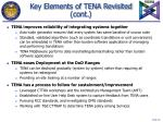 key elements of tena revisited cont