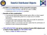 stateful distributed objects