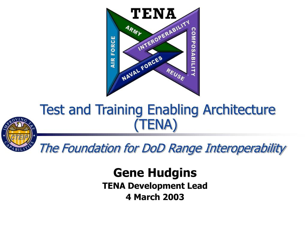 test and training enabling architecture tena l.