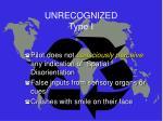 unrecognized type i