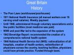 great britain history