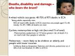 deaths disability and damage who bears the brunt
