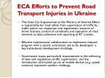 eca efforts to prevent road transport injuries in ukraine