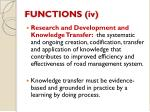 functions iv