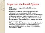 impact on the health system