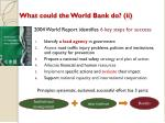 what could the world bank do ii