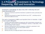 3 4 promoting investment in technology deepening r d and innovation