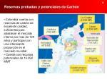 reservas probadas y potenciales de carb n