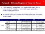 transporte sistemas integrado de transporte masivo