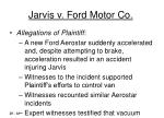 jarvis v ford motor co