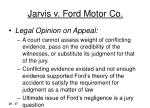 jarvis v ford motor co17
