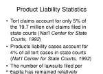 product liability statistics
