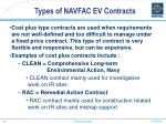 types of navfac ev contracts