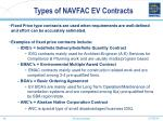 types of navfac ev contracts16