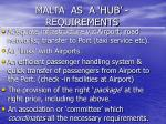 malta as a hub requirements