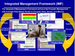 integrated management framework imf