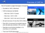 overview of cae inc