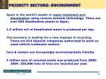 priority sectors environment