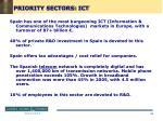 priority sectors ict