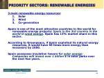 priority sectors renewable energies