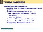 the legal environment69