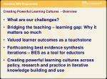 creating powerful learning cultures overview