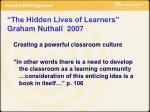 the hidden lives of learners graham nuthall 2007