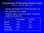 outcomes of nursing home care lewis et al gerontologist 1985 ajph 1985