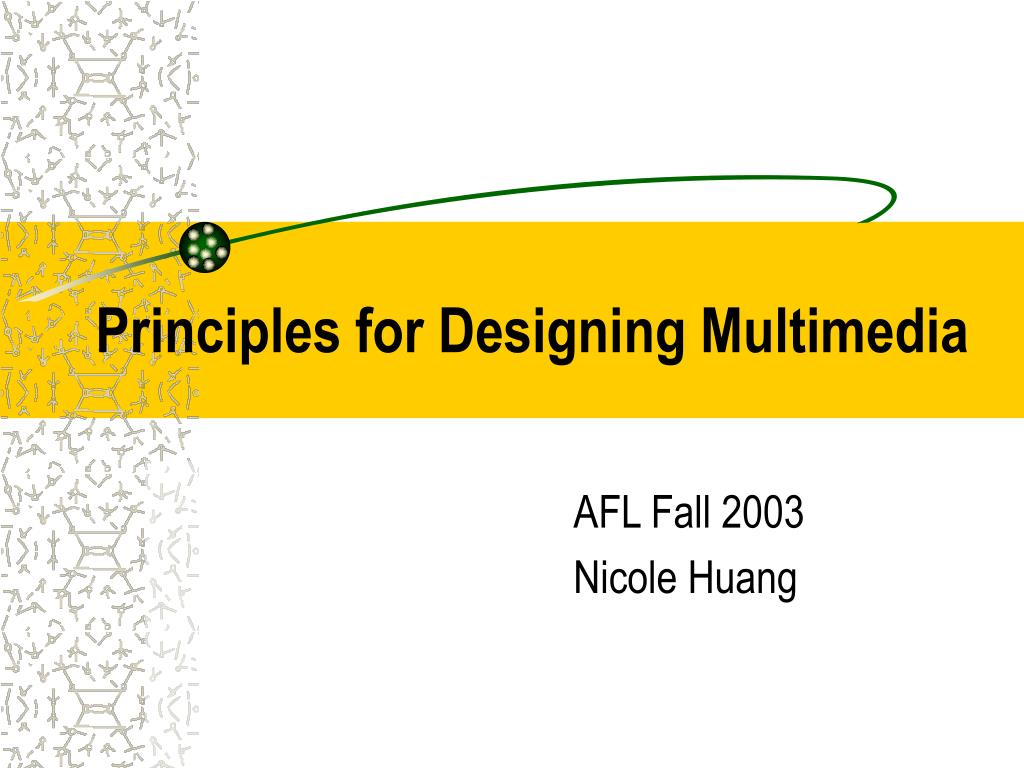 principles for designing multimedia l.