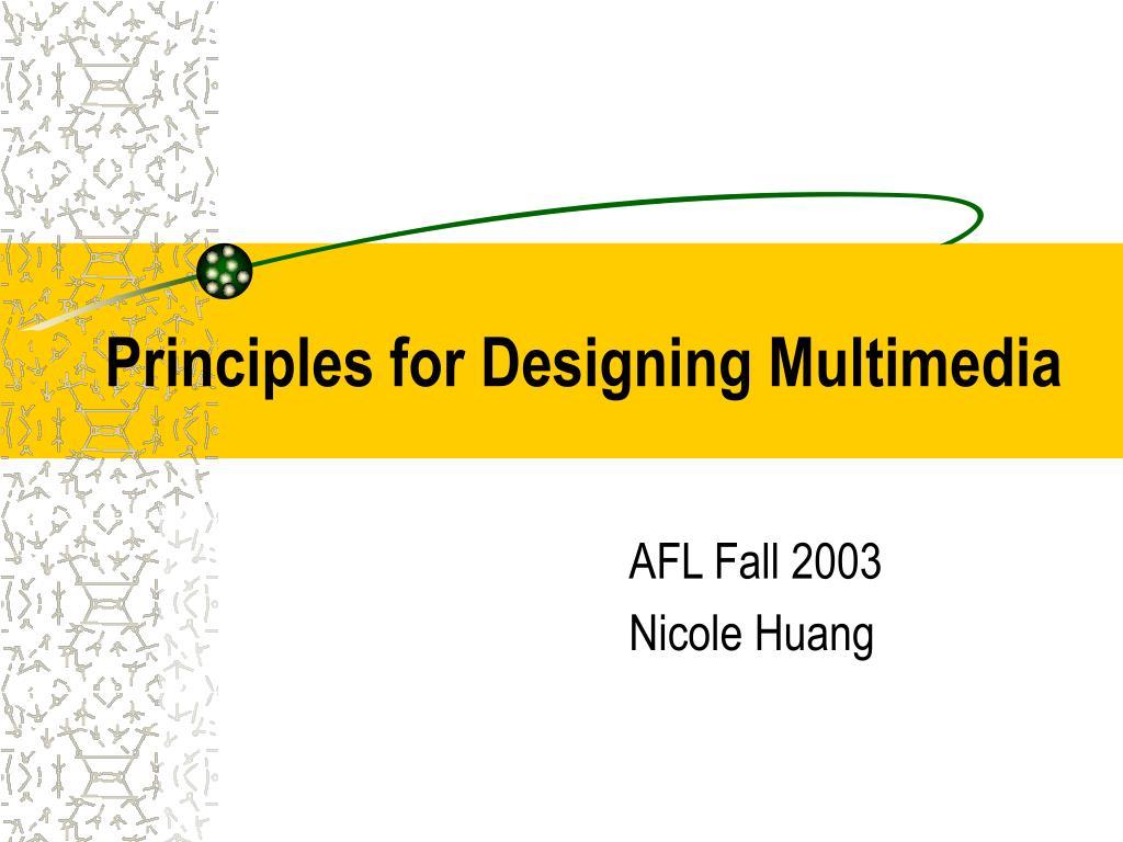 principles for designing multimedia l.