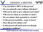 finding a mentee