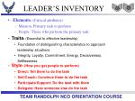 leader s inventory