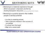 mentoring keys